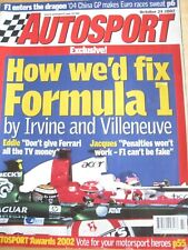 AUTOSPORT MAGAZINE OCT 2002 F1 ENTERS THE DRAGON IRVINE VILLENEUVE FIX F1