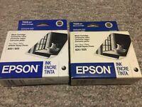 Set Of -2- Genuine OEM Epson 26 Black Ink Cartridges -T026201 New Sealed Expired