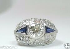 Antique  Art Deco Vintage Diamond Engagement Ring Platinum Ring Size 6 EGL USA