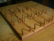 """LOT 12 OAK DUCK DECOY STANDS WOOD DISPLAY 1-1/2"""" PEGS STAINED ROLLED"""