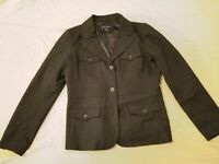 Womens Banana Republic Wool Jacket Blazer 12 Black