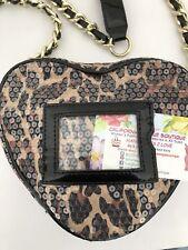 Betsey Johnson Bag Heart Sequinces Crossbody Designer Fashion Hip Chic Gift Hit
