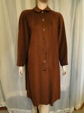 VINTAGE 40'S CHOCOLATE BROWN SWING COAT ~ CASHMERE?