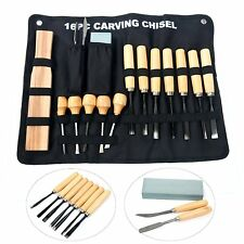 16 Piece Wood Carving Hand Chisel Tool Set Woodworking Kit For Beginners