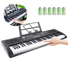 Electronic Keyboard 61 Keys Digital Piano Instrument with Music Stand + Mic