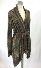 BUFFALO DAVID BITTON Loose Knit Wrap Shawl Sweater Dress w/ Tie Belt   One-Size