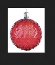 GKI/BETHLEHEM Lights 6 inch Red Glass LED Maille Sphere 100026988