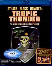 NEW BLU RAY- TROPIC THUNDER - BEN STILLER , ROBERT DOWNEY JR , JACK BLACK