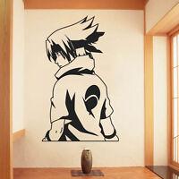 Naruto Sasuke Anime Manga Wandtattoo Wandaufkleber Wandsticker Wanddekos Schwarz