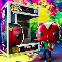 Vision 70s Gamestop Exclusive Marvel Studios WandaVision Funko POP! #718