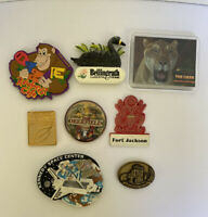 Lot of 8 Fridge Magnets US States Attractions Tourist Spots Refrigerator Magnets