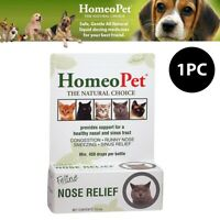 1x HomeoPet Feline Nose Congestion Relief Homeopathic Remedy Cat Kitten 15mL
