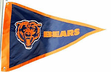Chicago Bears PENNANT 3x5 Flag Applique Embroidered Outdoor Banner Football