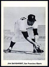 JIM DAVENPORT~SAN FRANCISCO GIANTS~RARE 1960 JAY PUBLISHING PACK-FRESH B/W PHOTO