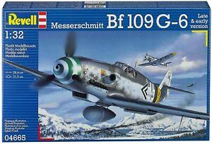 Revell G 4665 WWII German Messerschmitt Bf109 G-6 Fighter plastic model kit 1/32
