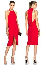 NICHOLAS Crepe Drape Back Dress in Poppy sz US 0 / IT 36 $595