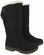 NEW LADIES WINTER WOMENS QUILTED  GRIP SOLE MID CALF FUR WARM SNOW BOOTS SHOES