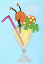 Fotokarton Fensterbild Sommer: Insekt badet im Champagner