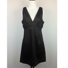 Elle Black Dress Womens 10 A-Line Stretch