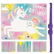HIP HOORAY PIN THE HORN ON THE UNICORN BIRTHDAY PARTY GAME ACTIVITY