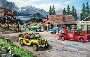ALASKAN ROAD TRIP by KEN ZYLLA - SunsOut 550 piece puzzle - NEW