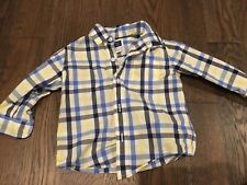 Janie And Jack Button Down Short Sleeve Shirt 6-12 Month