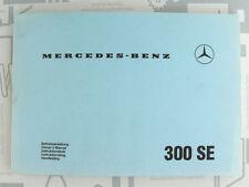Original Mercedes Bedienungsanleitung W112 300SE Reprint 1982 NOS! NEU!