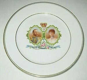 King George V and Queen Mary Coronation Plate Royal Winton Grimwades