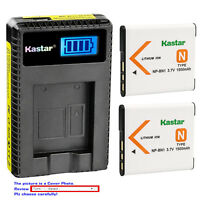 Kastar Battery LCD Charger for Sony NP-BN1 BC-CSN & Sony Cyber-shot DSC-W610