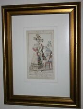 Modes de Paris No. 678 - Petit courrier des dames - Antique engraving Framed