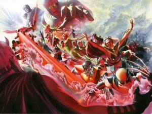 Alex Ross Evolution Giclee on Canvas Signed- X-Men