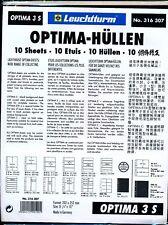 10 RECHARGES LEUCHTTURM OPTIMA 3 S - 3 poches fond noir