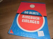 Ringbucheinlage 2x50 Blatt blanko DIN A4