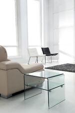 Beistell Tisch Layer mit Zwischenboden Glastisch Nachttisch Wohnzimmer [200321]