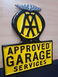 CAST ALUMINIUM ** AA **APPROVED GARAGE VINTAGE STYLE SIGN WORKSHOP MAN CAVE