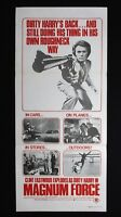 MAGNUM FORCE '73 Orig Australian daybill movie poster Clint Eastwood Dirty Harry