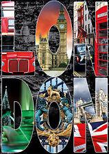 PUZZLE 1000 PIEZAS TEILE PIECES - LONDON COLLAGE DE LONDRES - EDUCA 16786