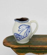Vintage Eileen Vernon Stoneware Jug Pitcher Dollhouse Miniature 1:12