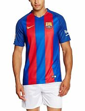 2016-2017 Barcelona Authentic Home Blue Top Jersey Royal Soccer Large Football