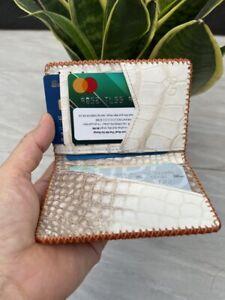 ORANG GENUINE Stingray , ALLIGATOR CROCODILE Leather Credit Card Holder handmade
