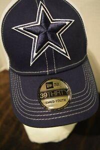 Dallas Cowboys New Era 39FIFTY Navy white Child/youth Baseball Hat Cap NWT