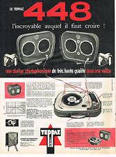 PUBLICITE ADVERTISING 0314   1960   TEPPAZ 448    éléctrophone