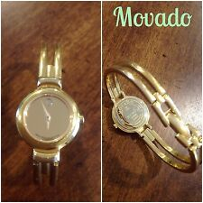 Womens Authentic Movado Harmony Bangle Watch