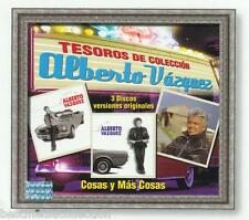 Alberto Vazquez CD NEW Tesoros De Coleccion SET 3 CD's Con 36 Canciones SEALED