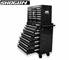 NEW Lockable Heavy Duty Shogun 16 Drawers Mechanic Tool Box Toolbox on Trolley