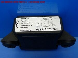 84-88 PORSCHE 928 CENTRAL LOCK LOCKING CONTROL MODULE UNIT RELAY 92861812500