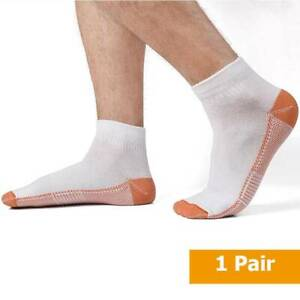 Compression Cooper Socks Ankle Arch Support Heel Plantar Fasciitis Pain Relief