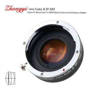 Lens Turbo II adapter for Canon EOS EF mount lens to Sony mount NEX α6000 a6500