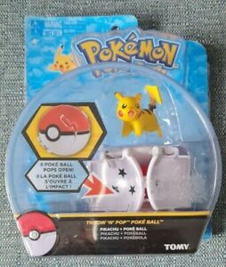 Tomy Pokemon Throw 'N' Pop Pokeball Pikachu New & Sealed