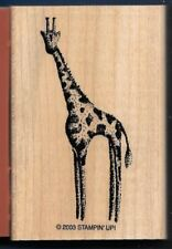 GIRAFFE NATURE Wildlife Animal Art NEW Stampin' Up! In the Wild RUBBER STAMP